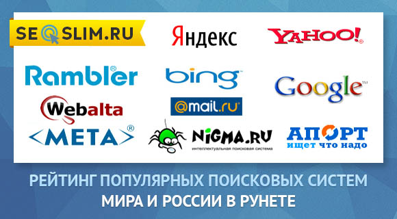 Рейтинг популярных поисковых систем в России