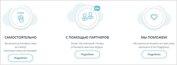 варианты установки сервиса на сайт