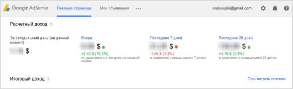 аккаунт в Google Adsense