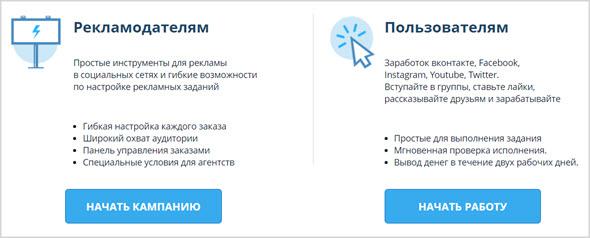 рекламодатели и пользователи в системе Вктаргет