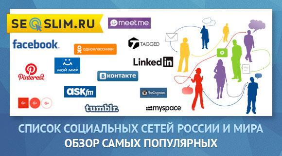 Обзор социальных сетей России