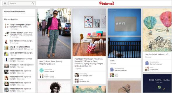 страница Pinterest
