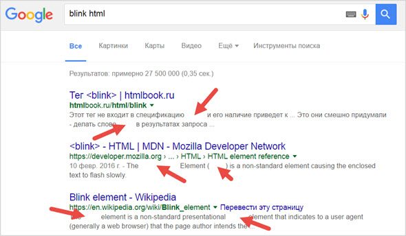 blink html