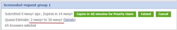 очередь на проверку сайта в browsershots.org