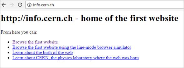 Первая интернет страница