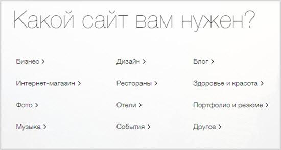 тип сайта