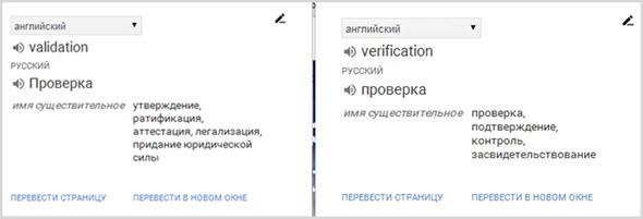 Перевод слов в Гугл переводчике