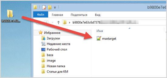 папка с файлом