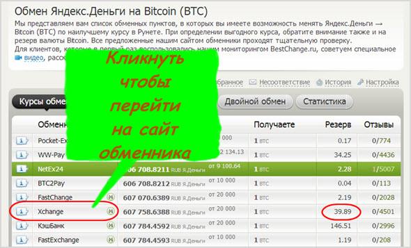 как приобрести BTC за Яндекс.Деньги