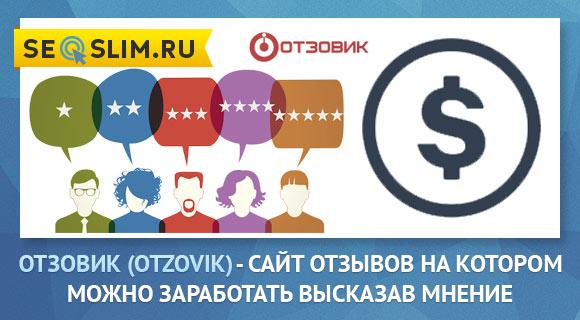 Пример заработка в сервисе Otzovik