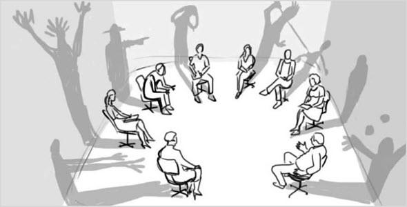 группа людей на сеансе