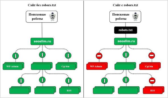 Роль файла роботс на блоге
