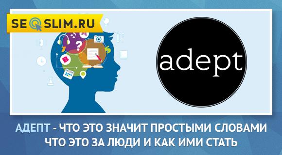 Значение слова Adept