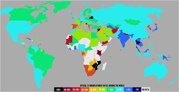 Статистика по безработице в мире