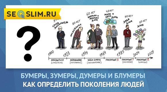 Что за поколение Думеров, Блумеров, Зумеров и Бумеров