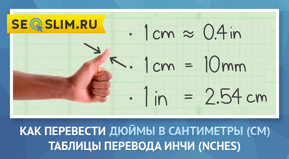 Перевод Дюймов в СМ и ММ